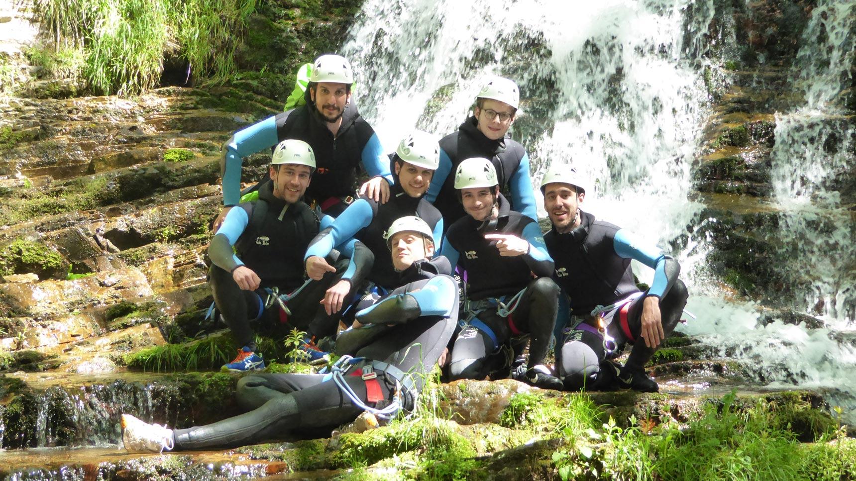 EVG-canyon du ruisseau d'Albes- 2018- groupe garcons- sensations - sportifs
